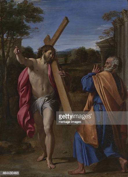 Christ appearing to Saint Peter on the Appian Way ca 1602 Found in the collection of the National Gallery London
