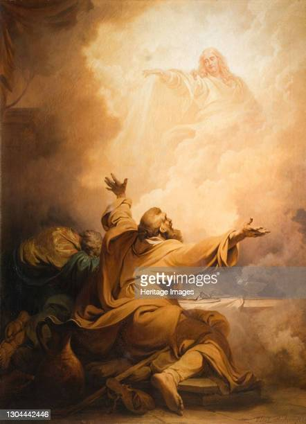 Christ Appearing To The Disciples At Emmaus, 1797. Artist Philip James de Loutherbourg.