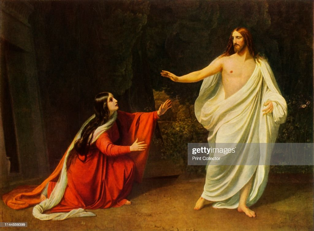 Christ Appears To Mary Magdalene : News Photo