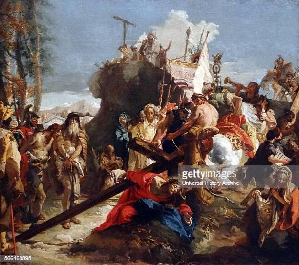 Christ arrives at Golgotha 1738 oil on canvas by Giambattista Tiepolo