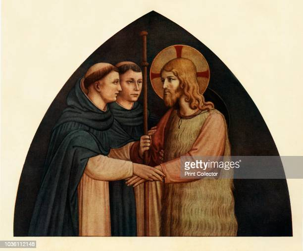 Christ as a Pilgrim Met by Two Dominicans', 15th century, . Italian Early Renaissance painter Fra Angelico was a Dominican friar , and carried out...