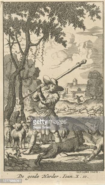Christ as the Good Shepherd The Good Harder Twenty four scenes from the New Testament , the good shepherd defending his sheep against wolves, 'I am...