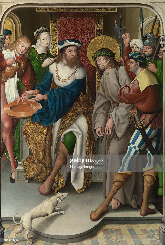 Christ before Pilate (The Liesborn Altarpiece), c. 1520. Artist: Baegert, Jan (ca 1465-ca 1535) : News Photo