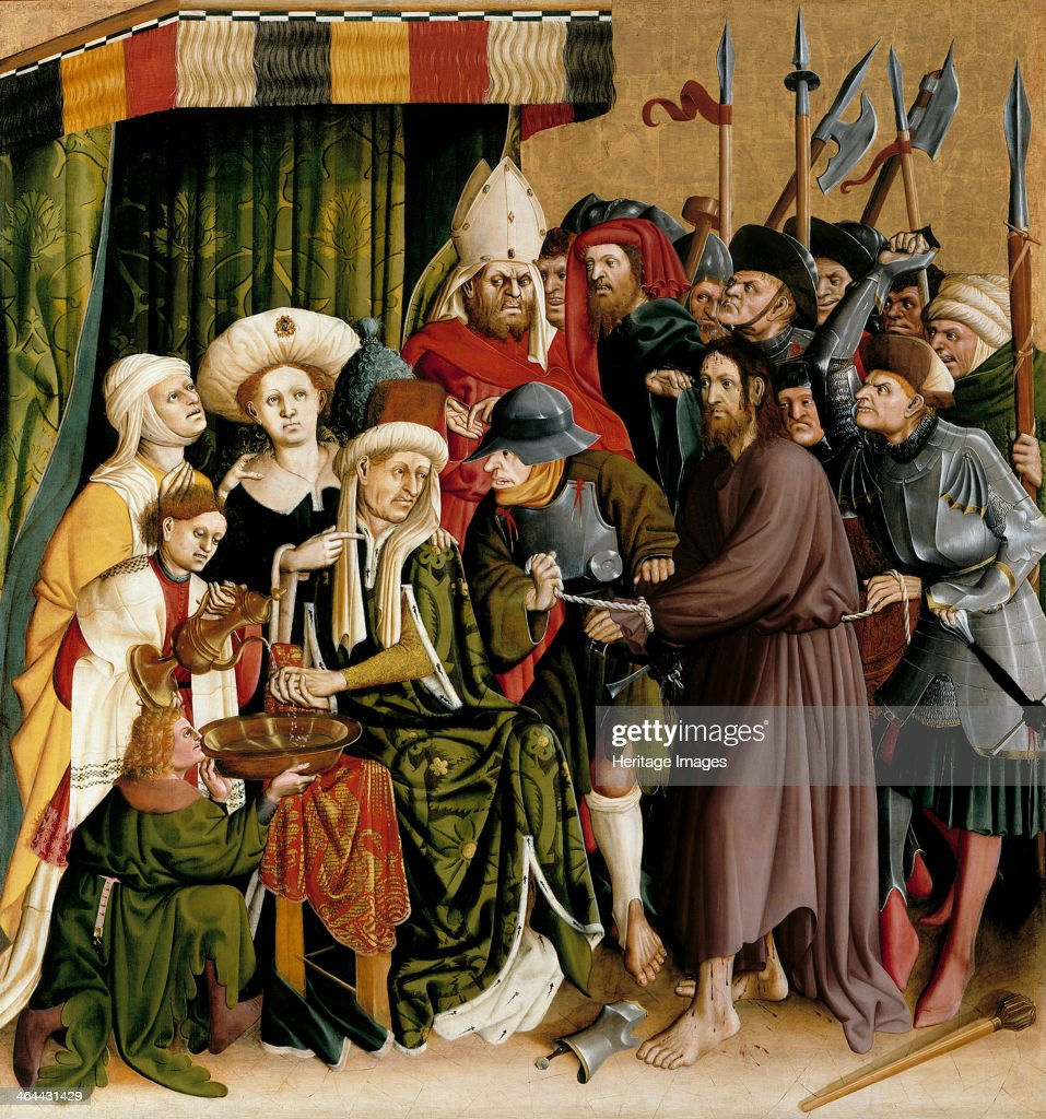 Christ before Pilate. The Wings of the Wurzach Altar, 1437. Artist: Multscher, Hans (c. 1400-1467) : News Photo