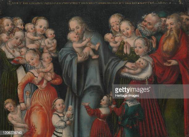 Christ Blessing the Children circa 154550 Artist Lucas Cranach the Younger