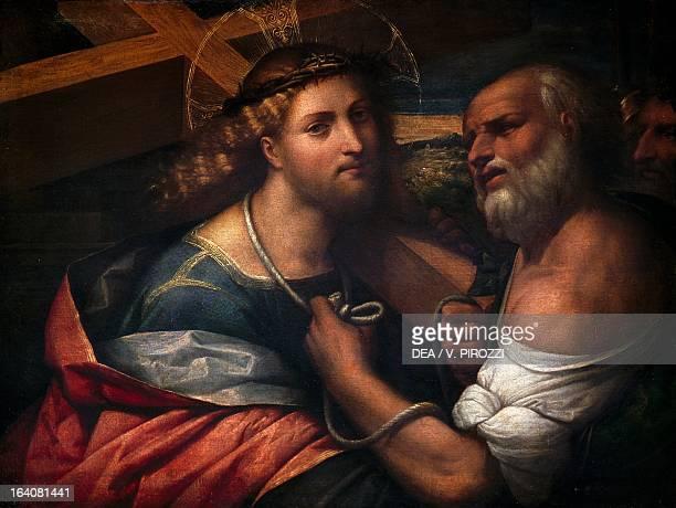Christ Carrying the Cross, by Benvenuto Tisi known as Garofalo , painting. Rome, Galleria Nazionale D'Arte Antica Di Palazzo Corsini