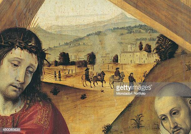 Christ carrying the cross followed by the Carthusians by Ambrogio da Fossano called Bergognone 15th Century
