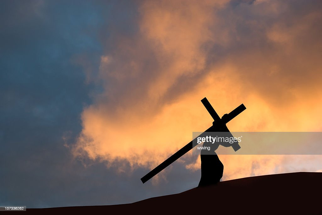 Christ carrying the cross on Good Friday : Stock Photo