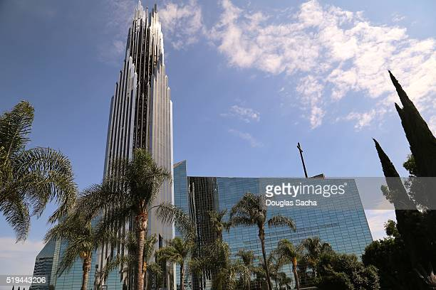 christ cathedral, diocese of orange county, garden grove, california, usa - cathedral stock pictures, royalty-free photos & images