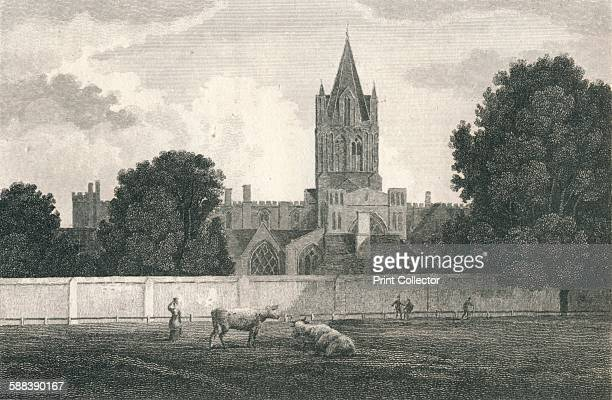 Christ Church Cathedral Oxford 1811 After a drawing by A Wilson