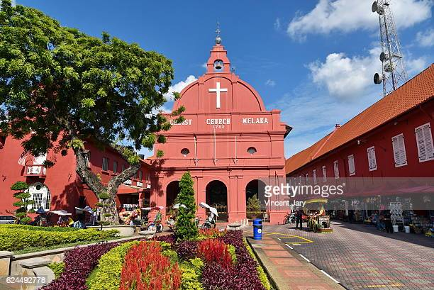 christ church, malacca malaysia - melaka state stock pictures, royalty-free photos & images