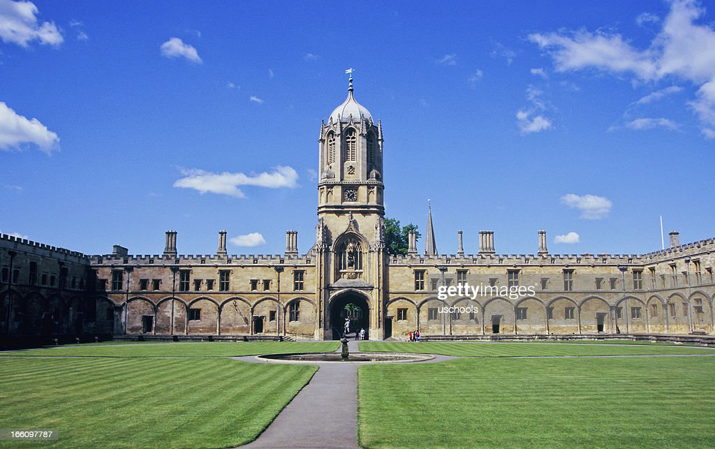 Christ Church's Tom Tower, Oxford University, England : Stock Photo