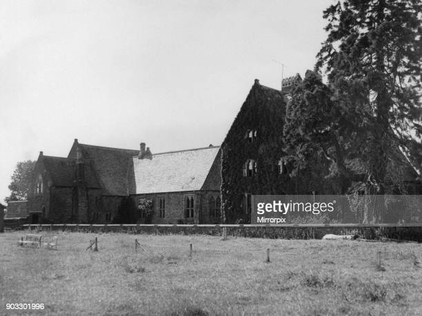 Christ College in Brecon a market town and community in Powys Mid Wales 20th June 1957 A view of the college from the playing fields