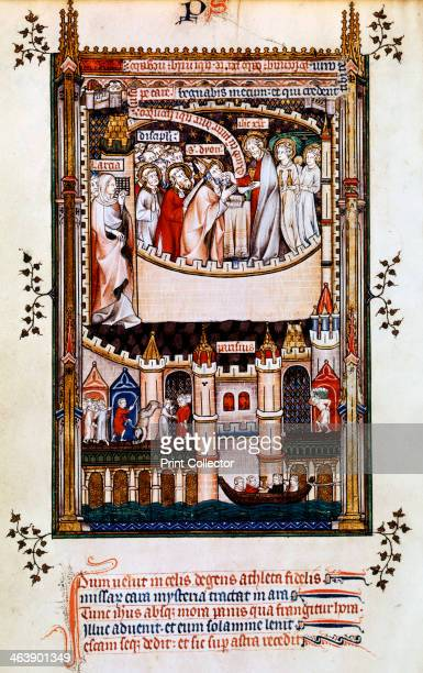 Christ gives communion to St Denis 1317 St Denis and his companions receive communion on the eve of the Martrydom To the left is Larcia who denounced...