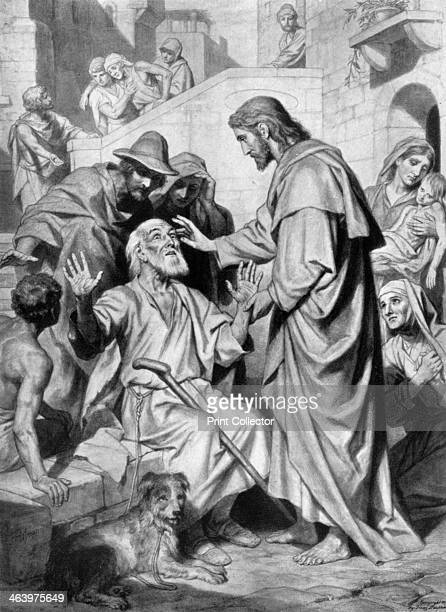 Christ healing the blind c1926 From An Outline of Christianity The Story of Our Civilisation volume 1 The Birth of Christianity edited by RG Parsons...