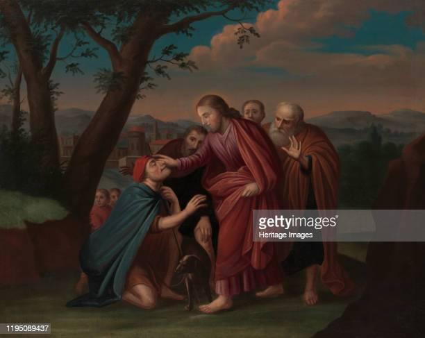 Christ Healing the Blindman circa 172530 Artist Gerardus Duyckinck