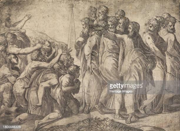 Christ Healing the Lepers, circa 1545 . Artist Andrea Schiavone.