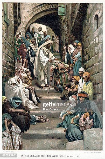Christ healing the sick brought to him in the villages c1890 In the New Testament gospels chronicling the life of Jesus Christ there are a number of...