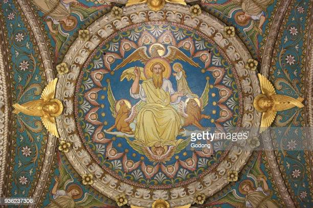 Christ in Majesty and Tetramorph Basilica of NotreDame de Fourvi�re Lyon