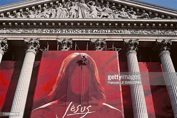 Christ In Paris France In February 2000 A show by Robert Hossein painting by Catherine Feff at the Madeleine