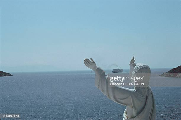 Christ in Sifnos Greece The Christ with open arms