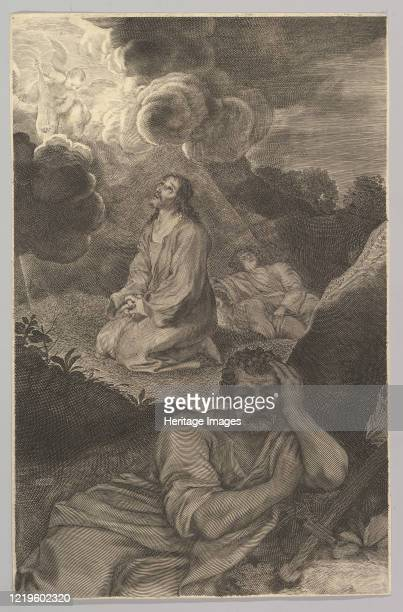 Christ in the Garden of Olives 17th century Artist Claude Mellan