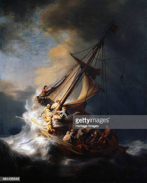 Christ in the Storm on the Lake of Galilee 1633 Found in the collection of the Isabella Stewart Gardner Museum Boston
