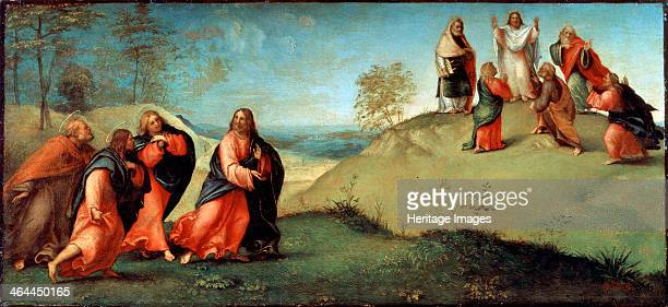 'Christ Leading the Apostles to Mount Tabor' 1512 Lotto Lorenzo Found in the collection of the State Hermitage St Petersburg