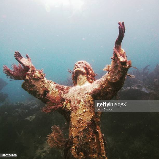 christ of the abyss - shipwreck stock pictures, royalty-free photos & images