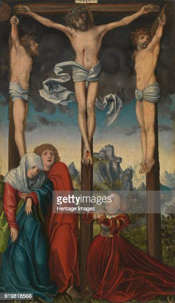 Christ on the Cross between the Two Thieves ca 15151520 Found in the collection of Alte Pinakothek Munich