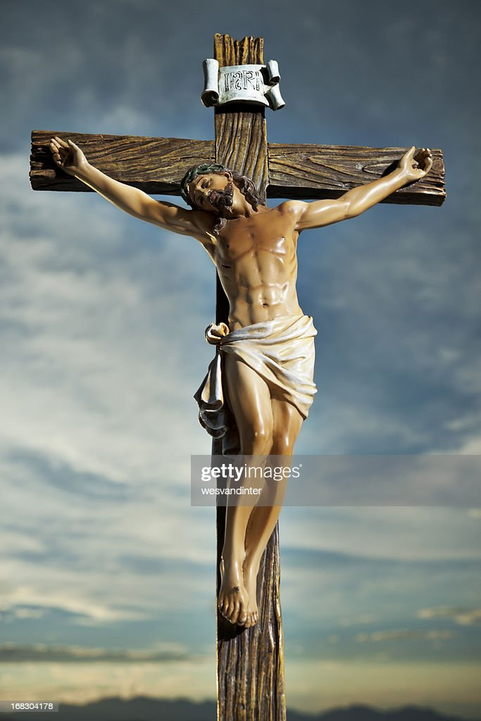 christ on the cross stock photo getty images