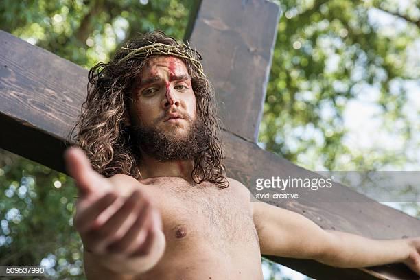 Christ sur la croix atteint pas de visionneuse