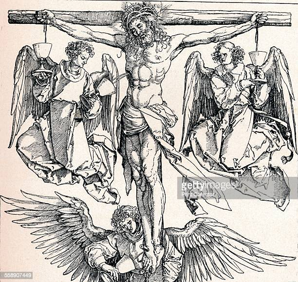 'Christ on the Cross with Three Angels' 15231525 From Durer Des Meisters Gemalde Kupferstiche und Holzschnitte in 471 Abbildungen [Stuttgart und...