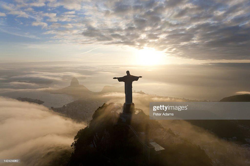 Christ The Redeemer : Christ redeemer statue rio de janeiro brazil stock photo