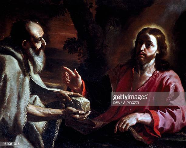 Christ tempted by Satan by Mattia Preti oil on canvas 105x133 cm Rome Galleria Spada