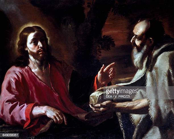 Christ tempted by Satan by Mattia Preti oil on canvas 105x133 cm Rome Galleria Spada