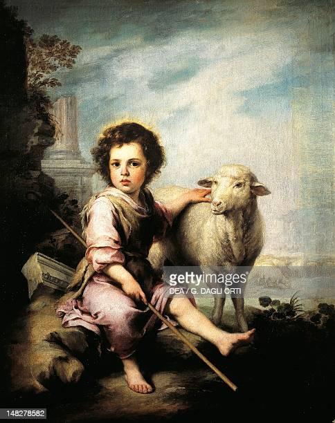 Christ the Good Shepherd by Bartolome Esteban Murillo Madrid Museo Del Prado