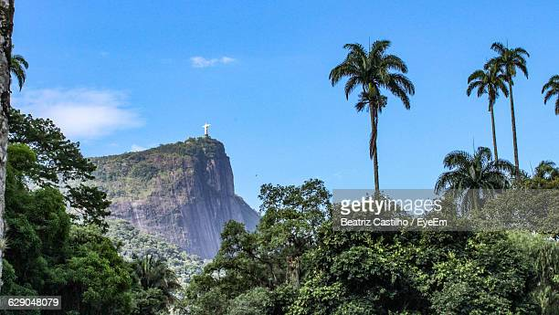 Christ The Redeemer On Corcovado Mountain Against Sky