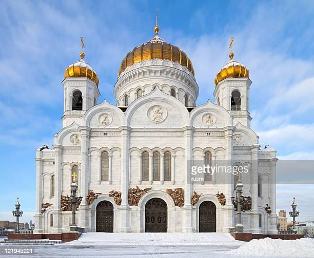christ the seagull-kathedrale, moskau, russland - kuppel stock-fotos und bilder