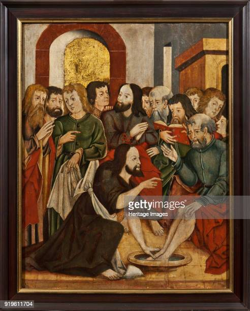 Christ Washing Peter's Feet 16th century Found in the Collection of State Museum of Religious History St Petersburg