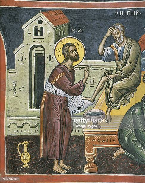Christ Washing the Feet of the Apostles 16th century Artist Byzantine Master