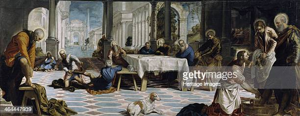 Christ washing the Feet of the Disciples 1548 Found in the collection of the Museo del Prado Madrid
