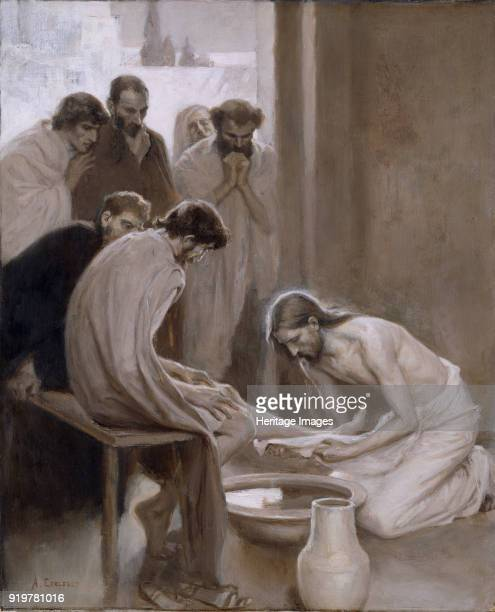 Christ washing the Feet of the Disciples, 1898. Found in the collection of Nationalmuseum Stockholm.