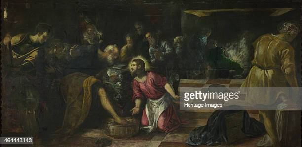 Christ washing the Feet of the Disciples ca 1575 Found in the collection of the National Gallery London