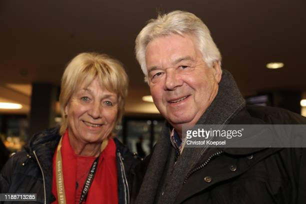 Christa and Juergen Sparwasser attend the Club Of Former National Players Meeting at Commerzbank Arena on November 19 2019 in Frankfurt am Main...