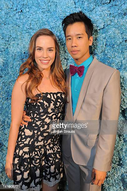 Christa B Allen and Jared Eng attend Just Jared's 30th at Pink Taco on March 23 2012 in Los Angeles California