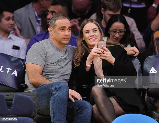 Christa B Allen attends a basketball game between the San Antonio Spurs and the Los Angeles Lakers at Staples Center on January 22 2016 in Los...