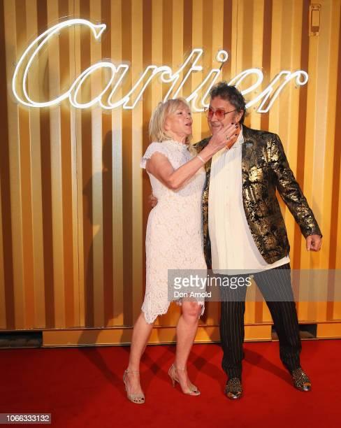 Christa Billich and Charles Billich attends the Cartier Precious Garage Party on November 29 2018 in Sydney Australia
