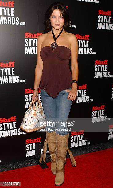 Christa Campbell during 2005 Stuff Style Awards - Arrivals at Hollywood Roosevelt Hotel in Hollywood, California, United States.