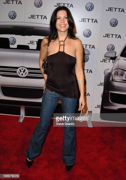 Christa Campbell during 2005 Volkswagen Jetta Premiere Party - Arrivals at The Lot in West Hollywood, California, United States.